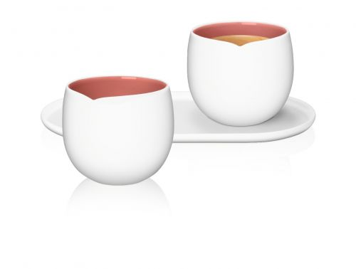 ORIGIN Collection L.E Lungo Cups, Set of 2 with Tray