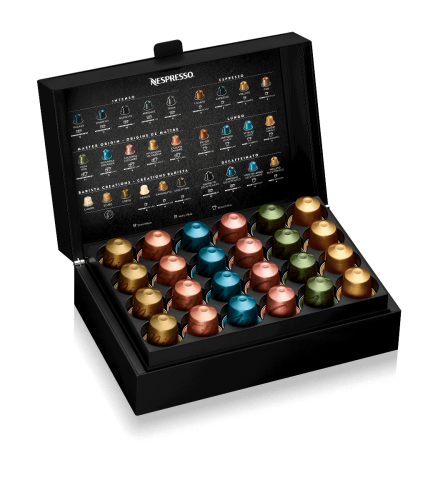 The perfect way to present the Nespresso capsules. Capacity 48 capsules. Supplied without capsules.
